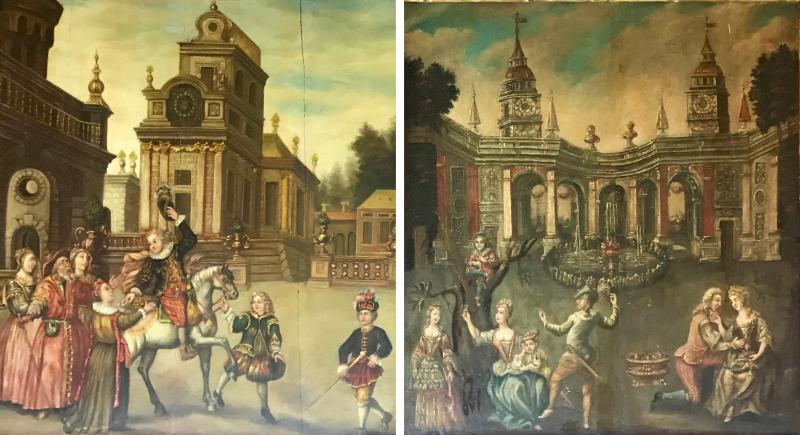 Extremely Rare Important Pair Old Master Paintings 17th C Stellar Pedigree