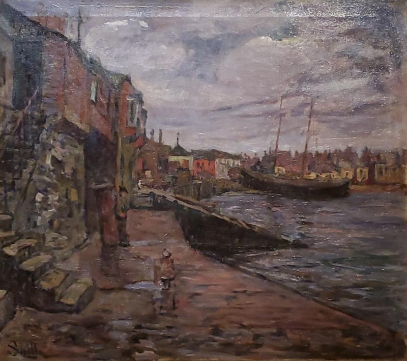 F Hutton Shill Along the Wharf