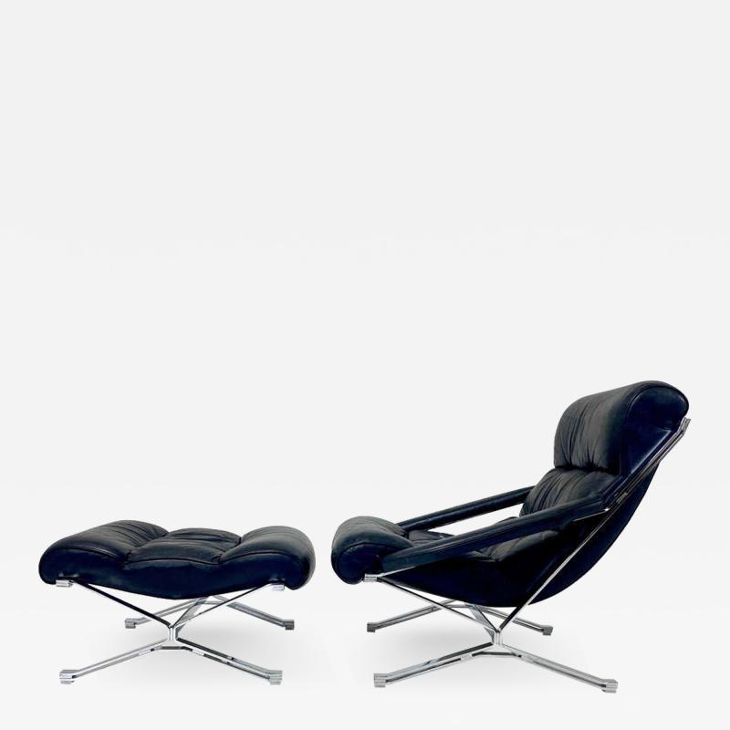 FORMANOVA Milano Sayonara Chair and Ottoman by Giulio Moscatelli 1960s