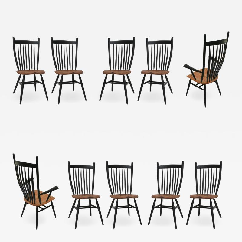 Fabian Fischer Set of 10 Handcrafted Studio Bent Chairs by Fabian Fischer Germany 2019
