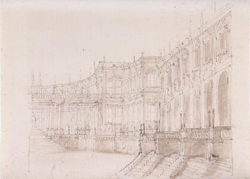 Fabrizio Galliari Recto Verso Palace Armorial Cartouche