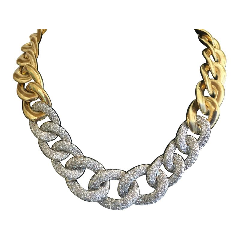 Fabulous 18k Gold and Diamond Necklace