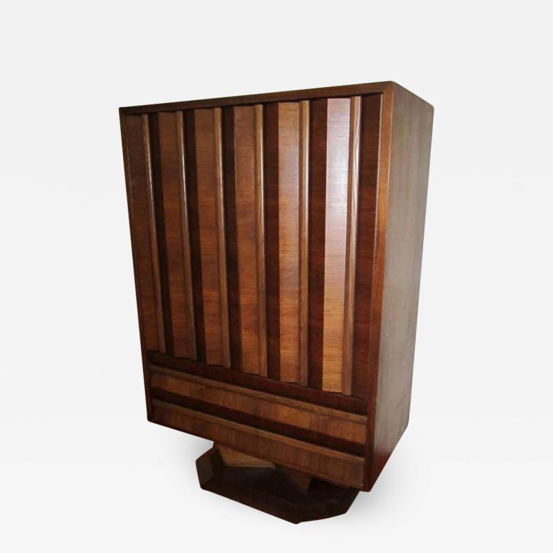 Fabulous Mid century Modern 3 dimensional Walnut tall Dresser Danish