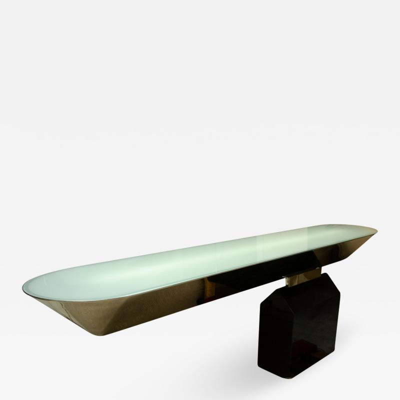 Fabulous and Rare Off Beam Console by J Wade Beam for Brueton