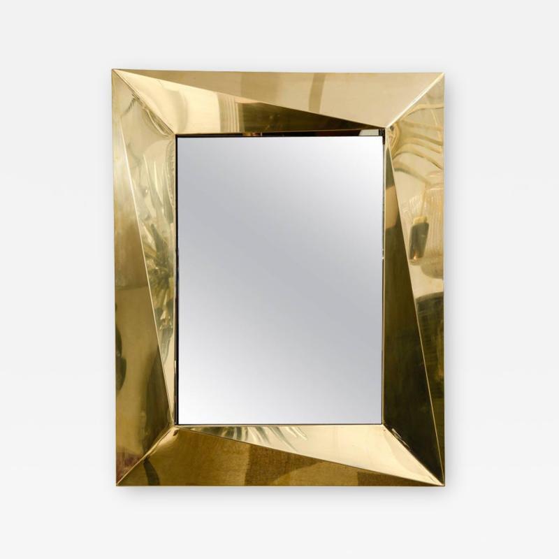 Fantastic Polished Brass Mirror