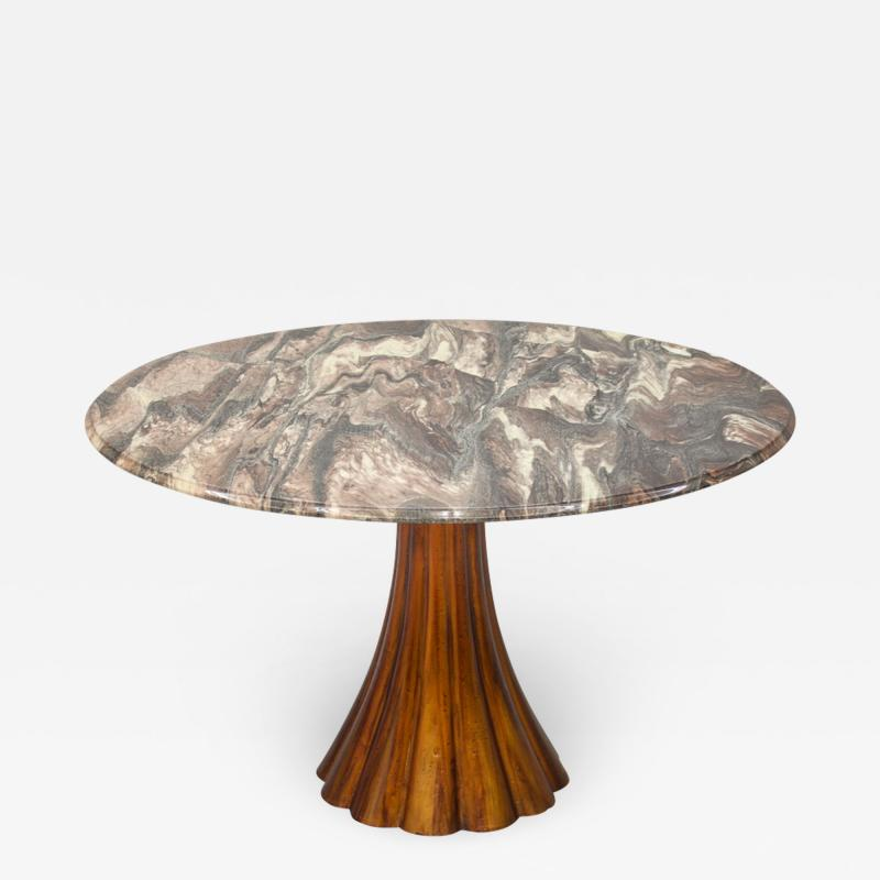 Fantastic Tulip Marble Dining Table Cast Metal Italy 1960s