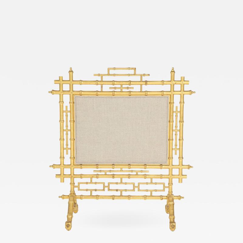Faux Bamboo Fireplace Screen