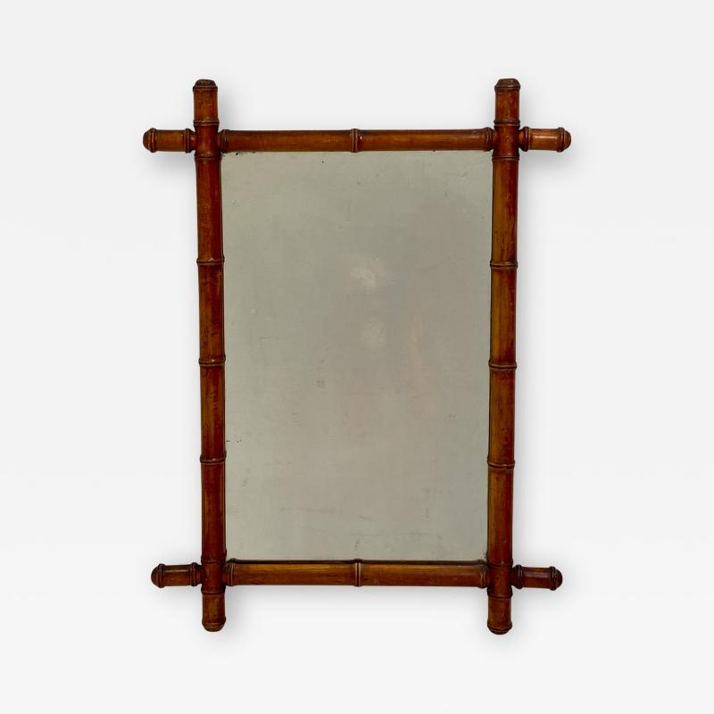 Faux Bamboo Mirror 19th Century England