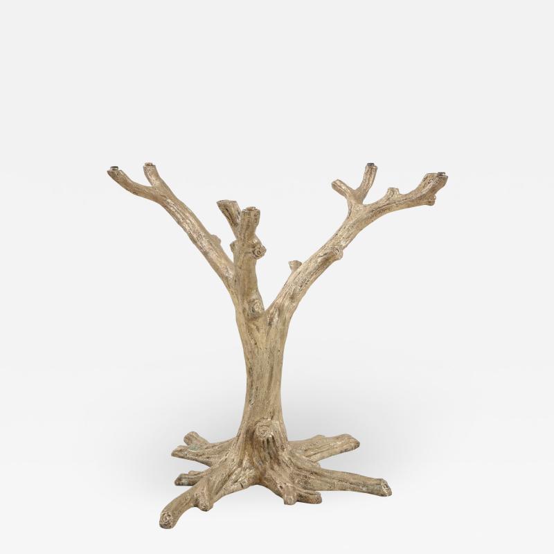 Faux Bois Bronze Tree Table Base
