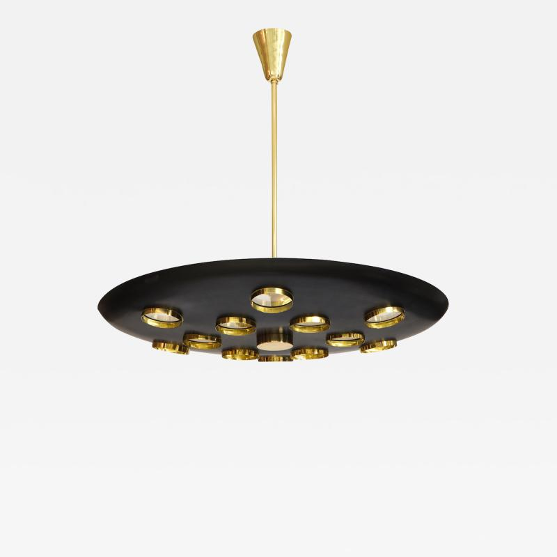 Fedele Papagni Contemporary Black Saucer Pendant by Fedele Papagni