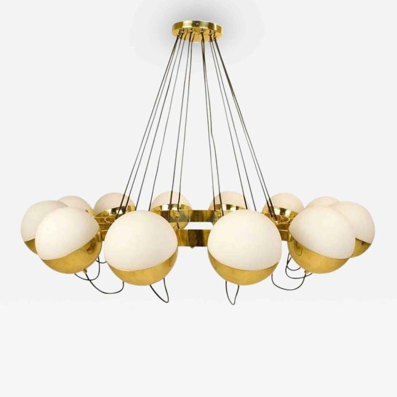 Fedele Papagni Twelve Globe Limited Edition Chandelier by Fedele Papagni for Gaspare Asaro