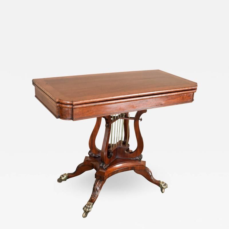 Federal Cross Lyre Card Table