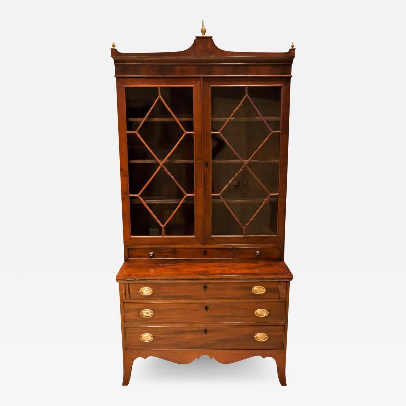 Federal Hepplewhite Secretary Bookcase Circa 1800 Mid Atlantic