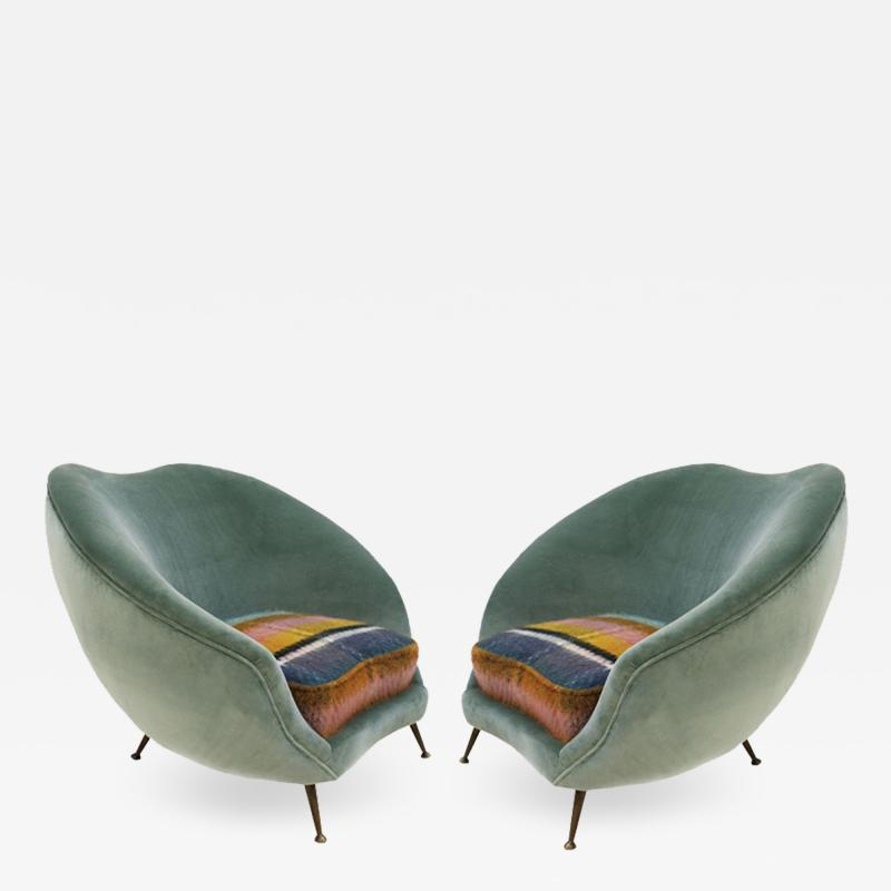 Federico Munari Pair of Armchairs Designed by Federico Munari