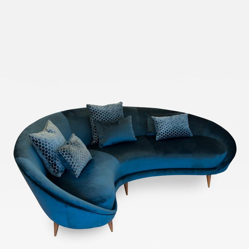 Federico Munari Vintage curved sofa by Federico Murano