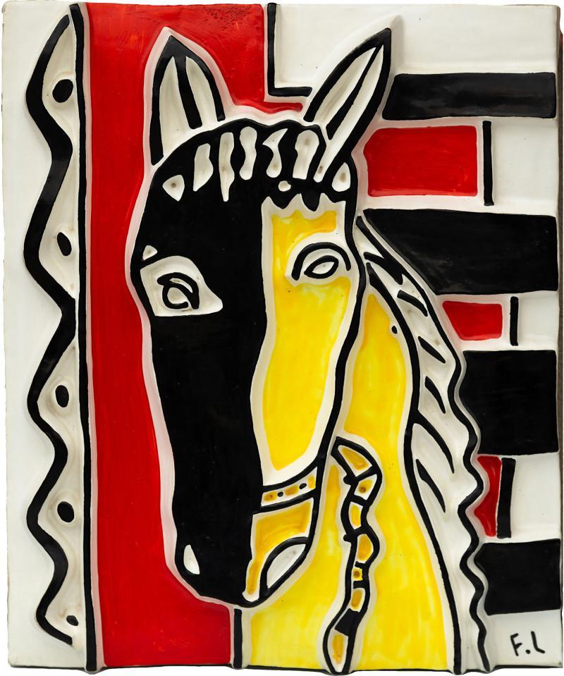 Fernand Leger Le cheval sur fond rouge