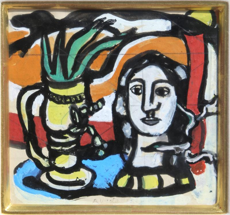 Fernand Leger Statuette au Vase Jaune