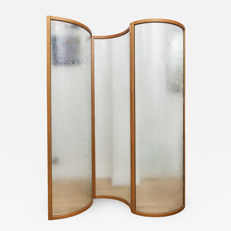 Fiam Glass Voyeur Screen Room Divider By Vittorio Livi For Fiam