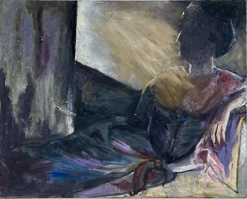 Figurative Painting of a Woman Reclining