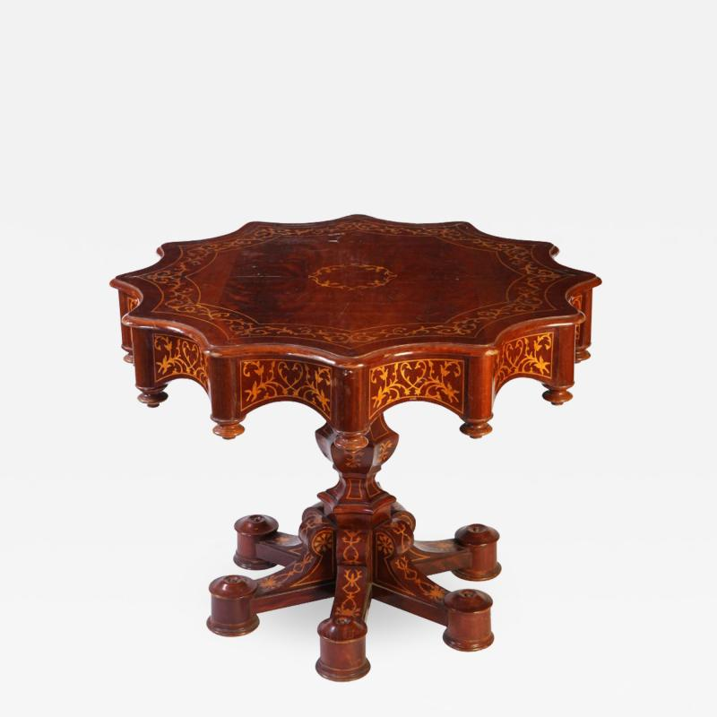 Fine 19th Century Italian Inlaid Center Table