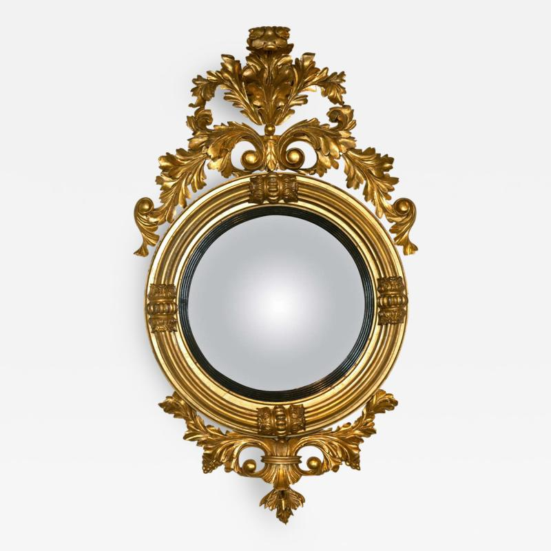 Fine American or English Regency Bulls Eye Mirror