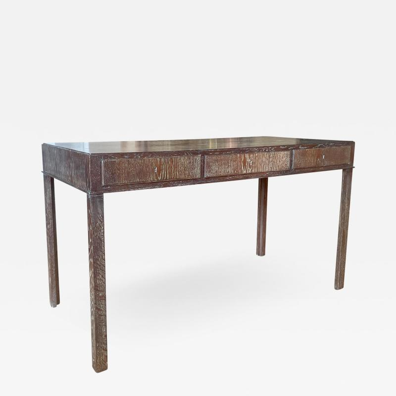 Fine Danish Art Deco Desk Console in Limed Oak