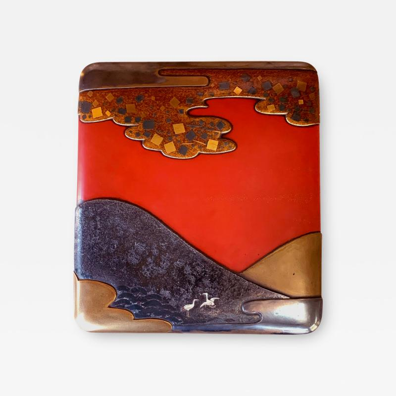 Fine Japanese Suzuribako Box with Storage Box and Provenance