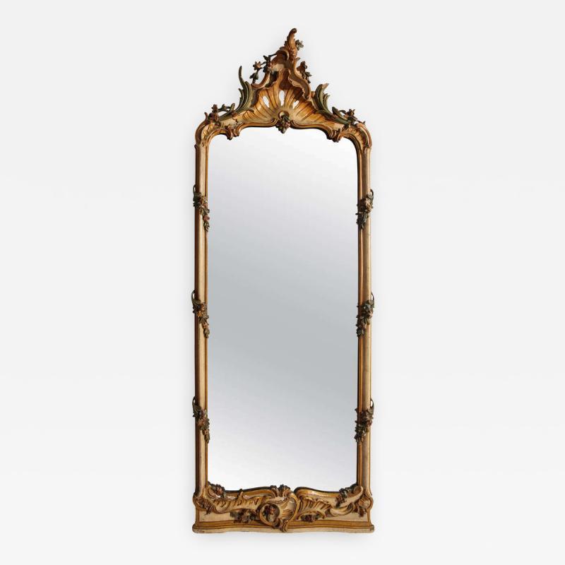 Fine Nord Italian 18th Century Painted Mirror