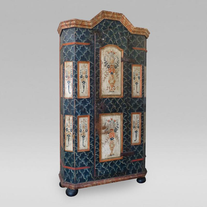 Fine Northern European Painted Armoire
