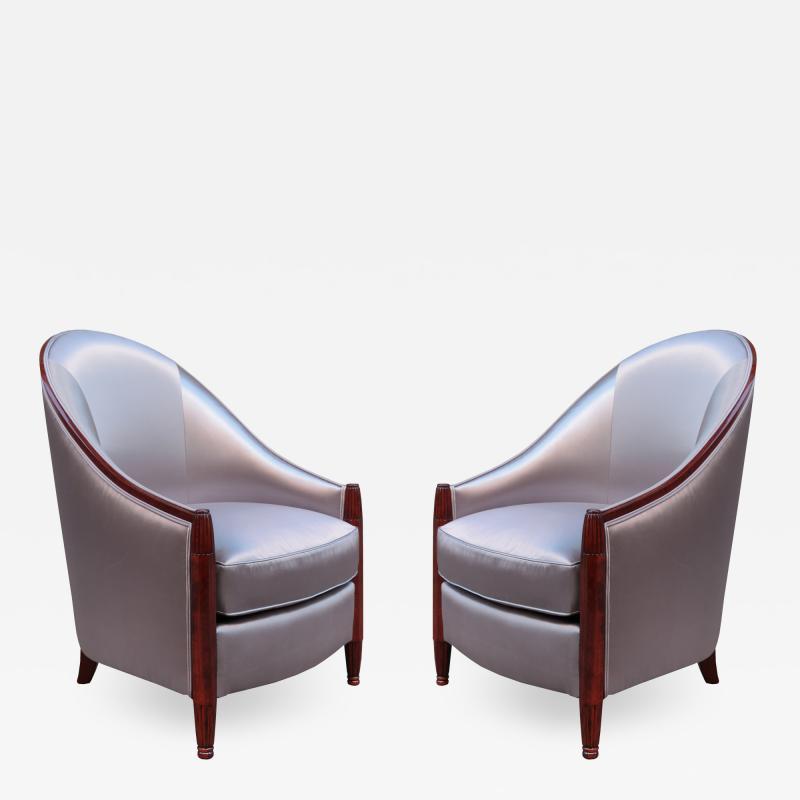Fine Pair of Art Deco Bergeres
