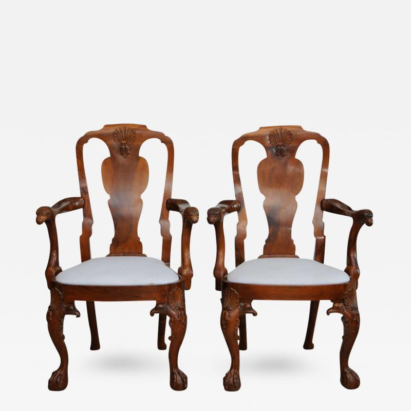 Fine Pair of George II Padouk Armchairs Anglo Indian