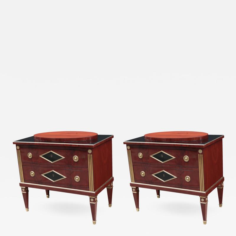 Fine Pair of Neoclassical Small Chests
