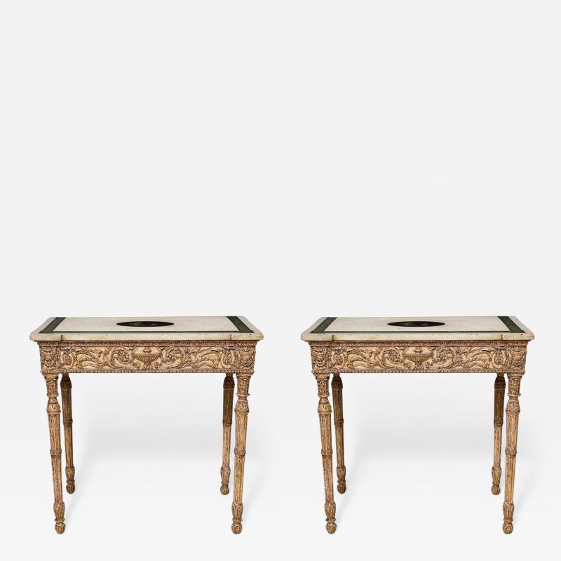 Fine Pair of Robert Adam Console Tables