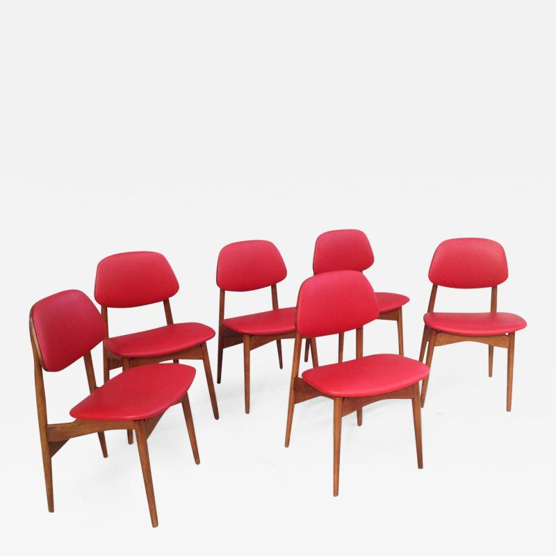 Fine Set of Six Italian 1950s Chairs