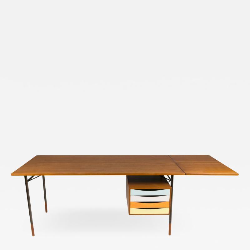 Finn Juhl Finn Juhl Model BO69 Nyhavn Teak Desk with Extension for Bovirke