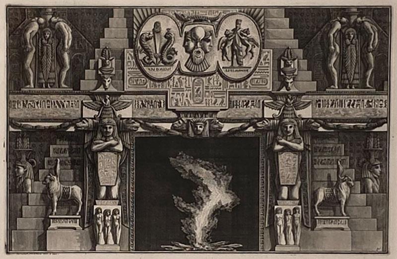 Fireplace Surround 1 Piranese Engraving Italy Circa 1760