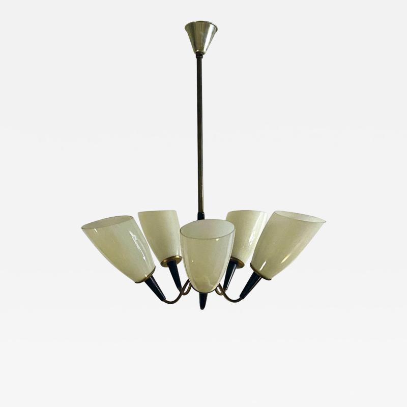 Five arm chandelier 1950s