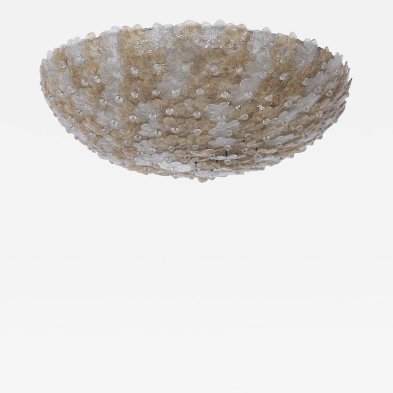 Flavio Poli Murano Glass Ceiling Lamp attr to Flavio Poli for Seguso 1950s