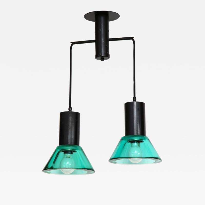 Flavio Poli Seguso Dual Suspension Light Venice Italy 1960 s