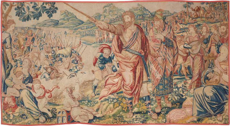 Flemish School 17th century fine tapestry of Bruxelles Moses and the Crossing of the Red Sea