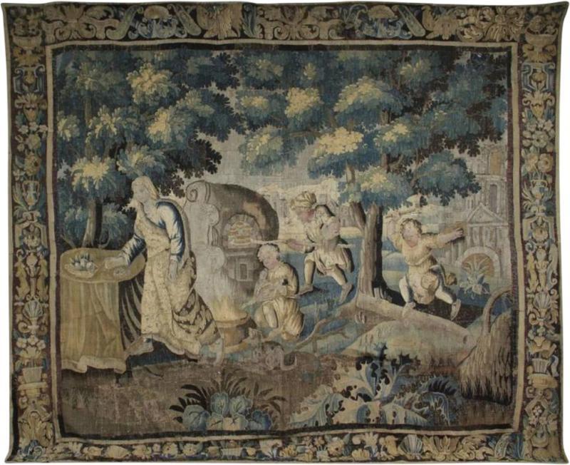 Flemish Verdure Garden Tapestry
