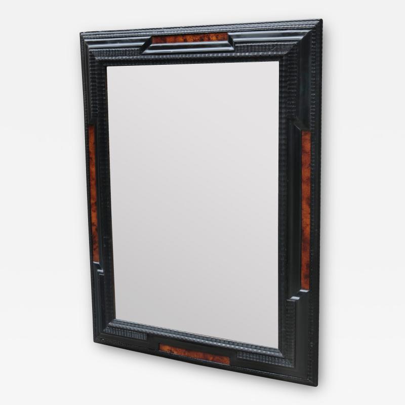 Flemmish Style Ebonized Wall Mirror