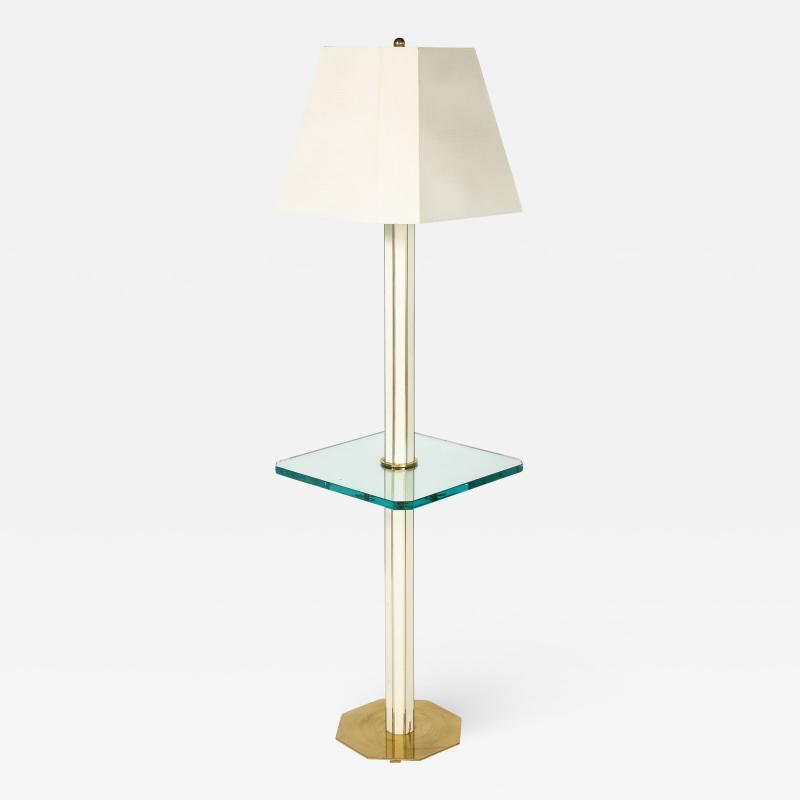 Floor Lamp with Glass Shelf