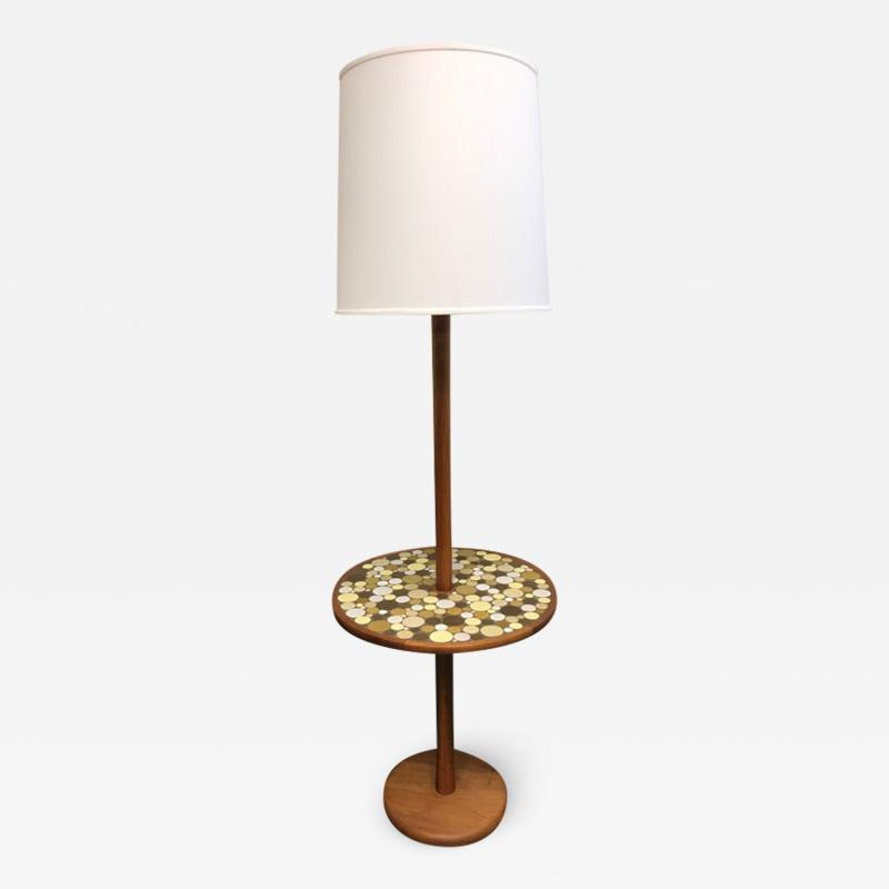 Floor lamp with tile table by Martz