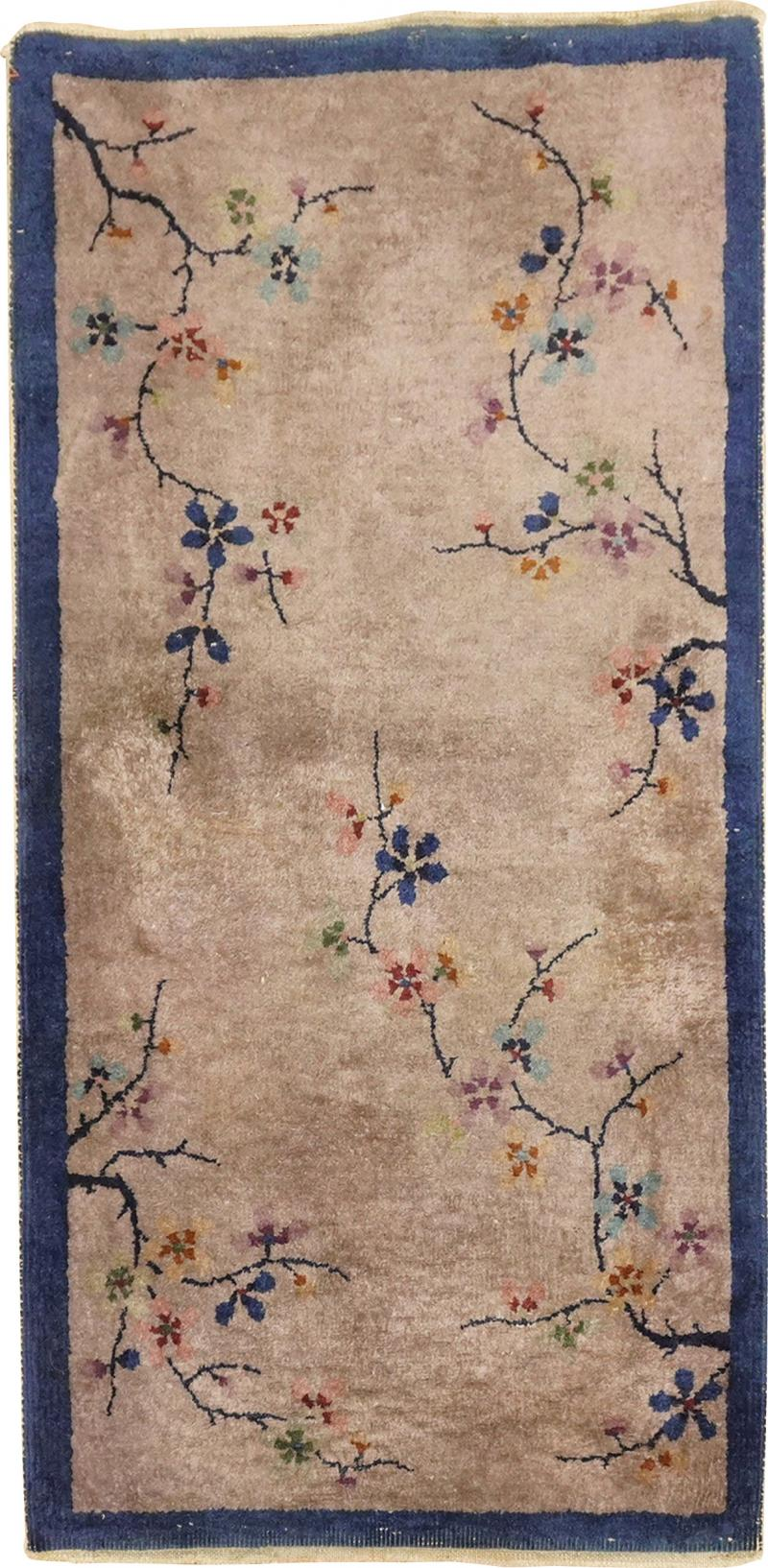 Floral Chinese Art Deco rug no 31455