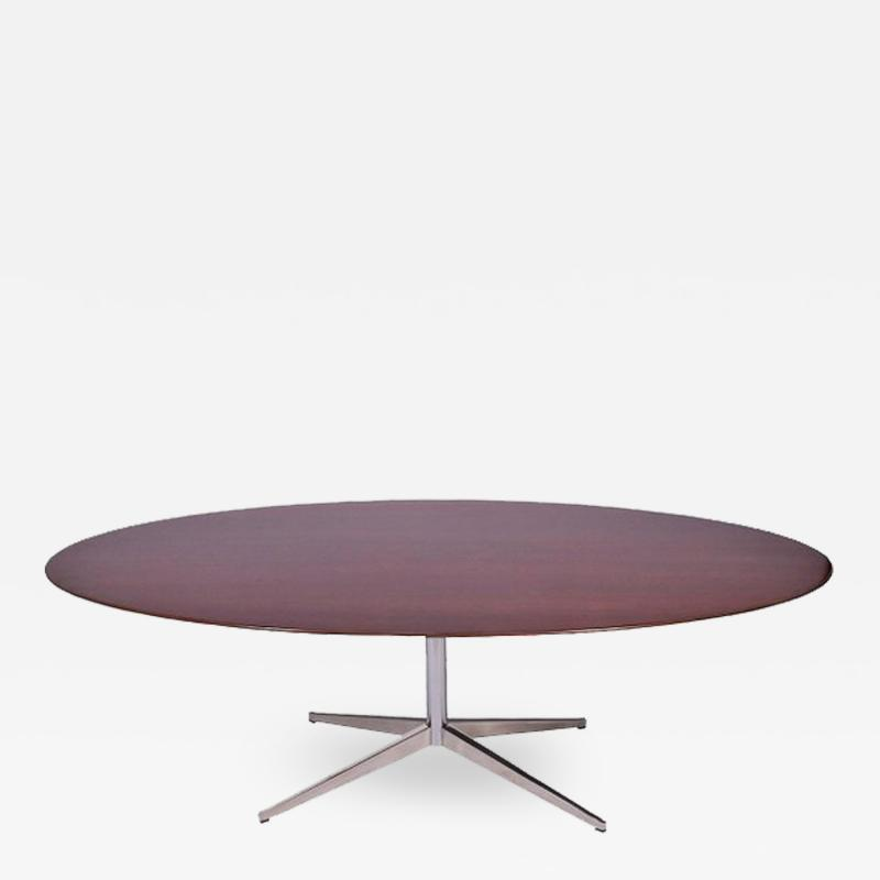 Florence Knoll 96 Oval Rosewood Table or Desk by Florence Knoll
