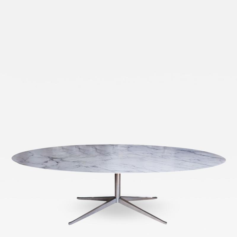 Florence Knoll Florence Knoll Oval Marble Dining Table