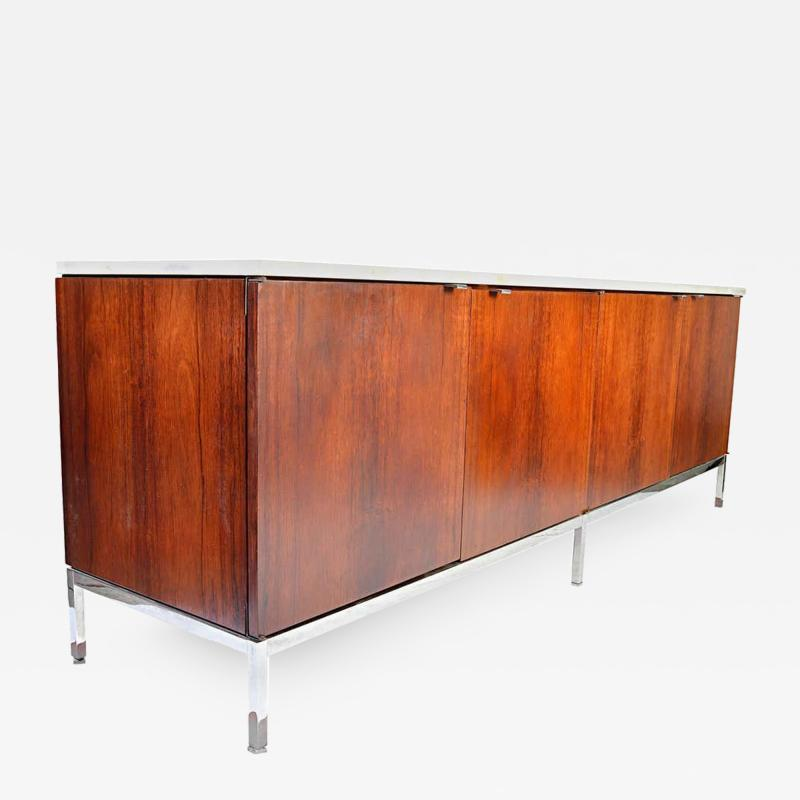 Florence Knoll Florence Knoll for Knoll International Marble Top Rosewood 4 Door Credenza