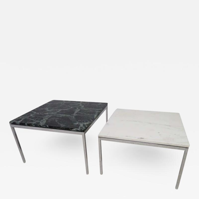 Florence Knoll Lovely Pair Florence Knoll Chrome Marble Side End Tables Mid Century Modern