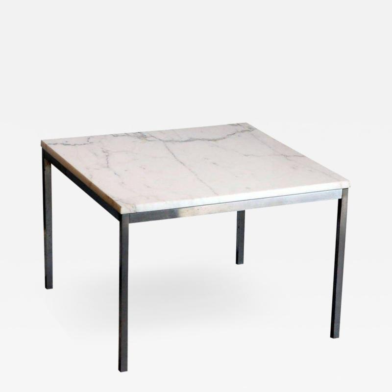 Florence Knoll Original Marble and Steel Coffee End Table by Florence Knoll for Knoll